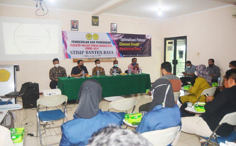 Pembekalan dan Penglepasan Mahasiswa KKM STISIP Banten Raya 2021