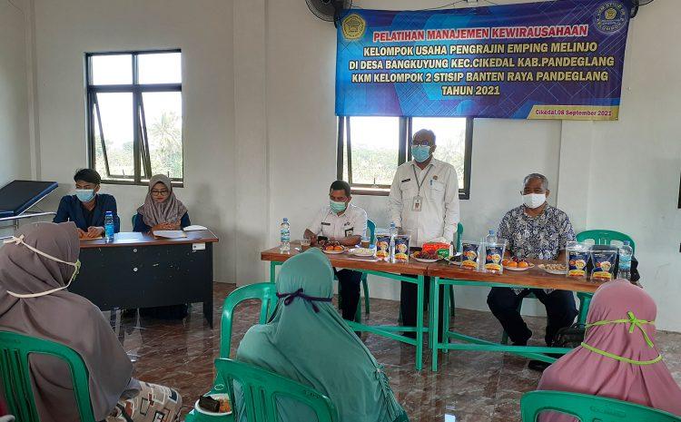 Pelatihan Manajemen Kewirausahaan KKM Kelompok 2 Ds. Bangkuyung